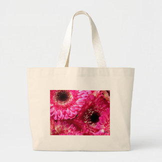Pink Gerberas Large Tote Bag