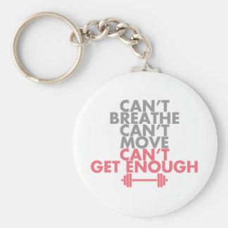 """Pink """"Get Enough"""" Key Ring"""