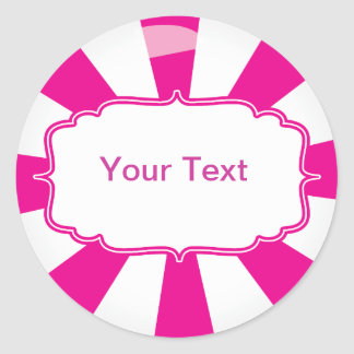 Pink Giant lollipop candy Buffet label