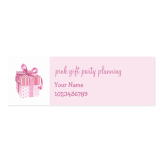 Pink Gift skinny Business Card