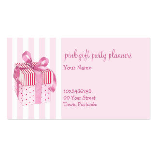 Pink GIft stripes Business Card