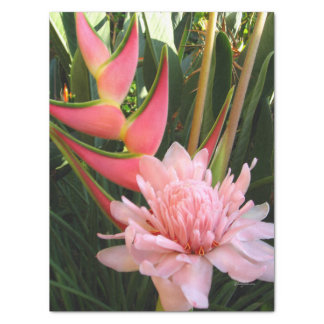 Pink Ginger Heliconia Tissue Paper