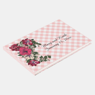 Pink Gingham and Petunias Guest Book