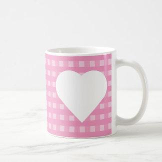 Pink Gingham Coffee Mug