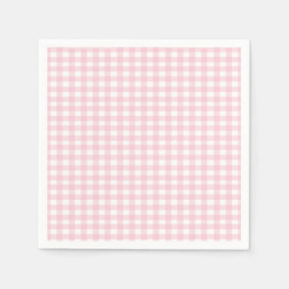 Pink Gingham Disposable Napkin