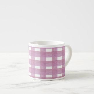 Pink Gingham Espresso Mug
