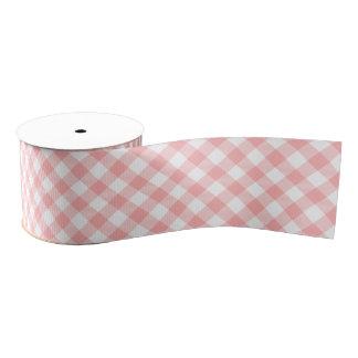 Pink Gingham Grosgrain Ribbon