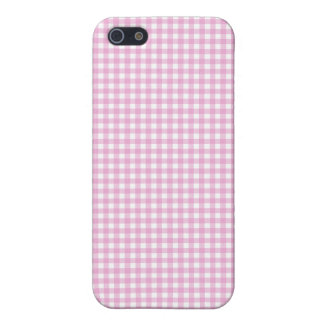 Pink Gingham iPhone Case Case For iPhone 5