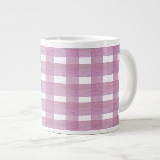 Pink Gingham Jumbo Mug