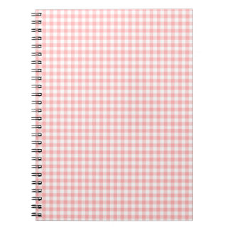 Pink Gingham Notebook