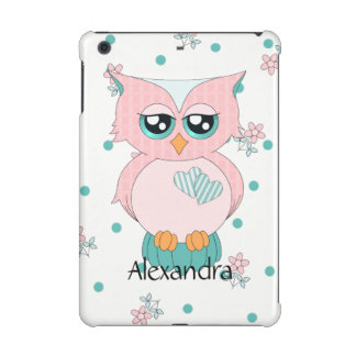 Pink Gingham Owl iPad Mini 2 & 3 Case