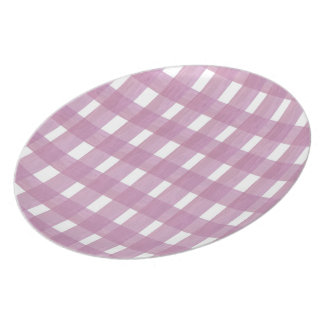 Pink Gingham Party Plate