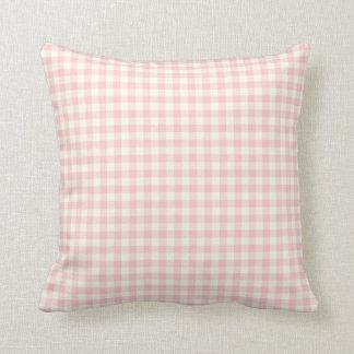 Pink Gingham Pattern Throw Pillow