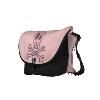 Pink Gingham Pirate Bag Courier Bags