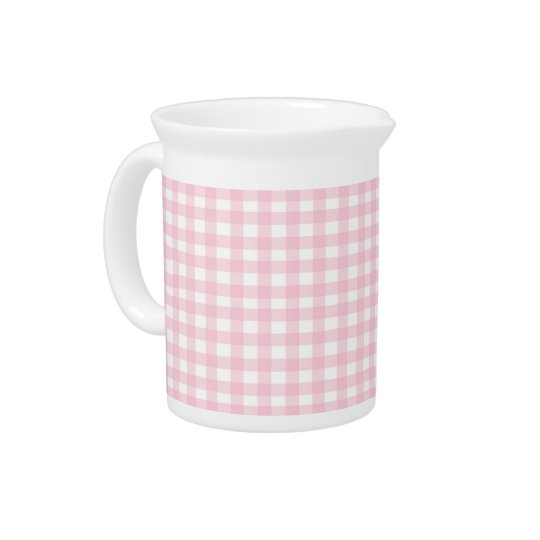 Pink Gingham Pitcher