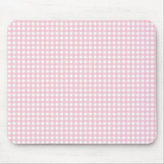 Pink Gingham Plaid Mouse Mat
