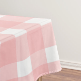 Pink Gingham Tablecloth