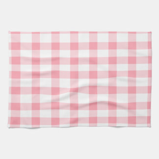 Pink Gingham Tea Towel