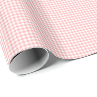 Pink Gingham Wrapping Paper