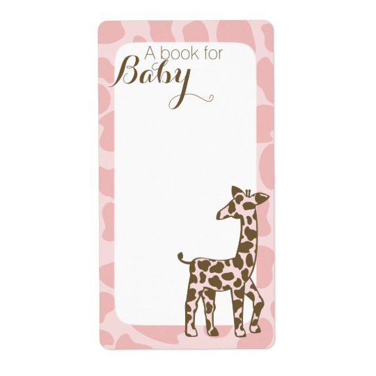 Pink Giraffe Book Tags