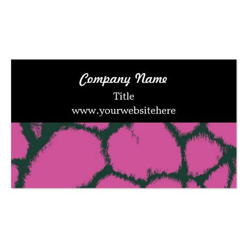 Pink Giraffe Fur Pattern Business Card