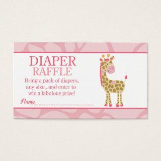 Pink Giraffe Jungle Jill Baby Shower Diaper Raffle