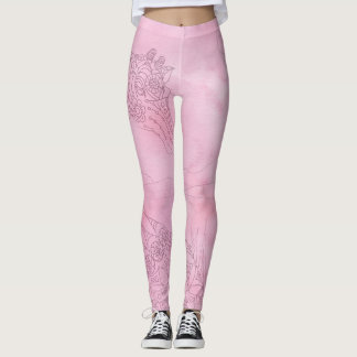 Pink Giraffe Leggings