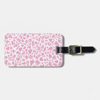 Pink Giraffe Luggage Tag