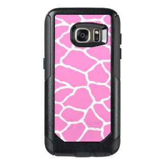 Pink Giraffe Print OtterBox Galaxy S7 Case