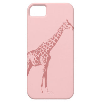 Pink Giraffe Sketch Barely There iPhone 5 Case