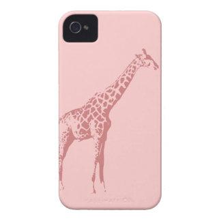 Pink Giraffe Sketch Blackberry Cases