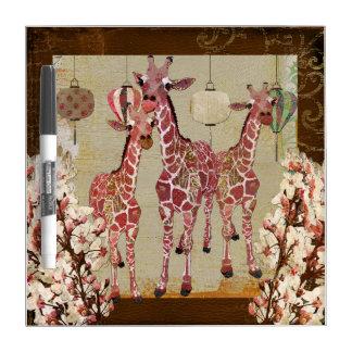 Pink Giraffes Cherry Jubilee Dry Erase Board