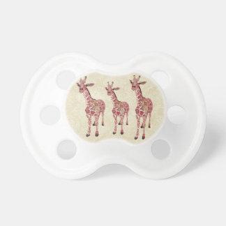 Pink Giraffes Pacifier