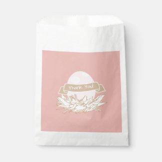 Pink Girl Baby Shower Modern Nature Favor Bag Favour Bags