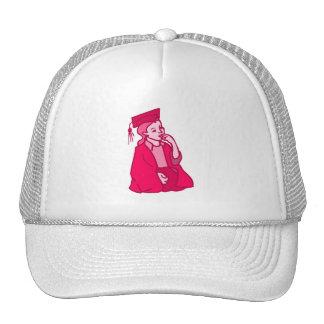 Pink Girl Grad Mesh Hat