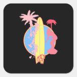 Pink Girl Surf logo Sticker