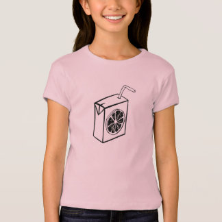 Pink girl T-shirt with juice