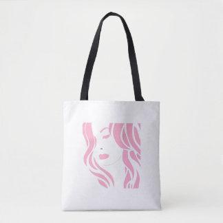 Pink girl tote bag