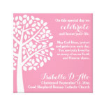 Pink Girl's Baptism Christening Prayer Blessing Canvas Prints