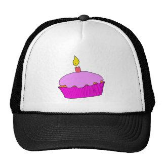 Pink Girls Birthday Cupcake Design Cap