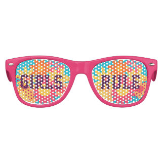 Pink Girls Rule Flower Lenses Sun Glasses