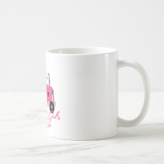Pink Girls Tractor Coffee Mug