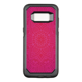 Pink Girly Boho Flower Design OtterBox Commuter Samsung Galaxy S8 Case