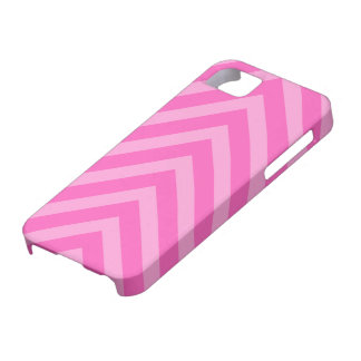 Pink girly chevron pattern arrows iPhone 5 case
