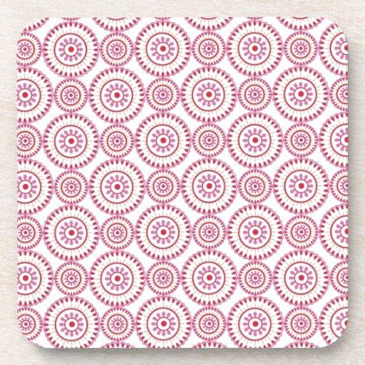 Pink Girly Circles Coasters