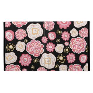 Pink Girly Flowers IPAD Caseable Folio Case iPad Folio Cases