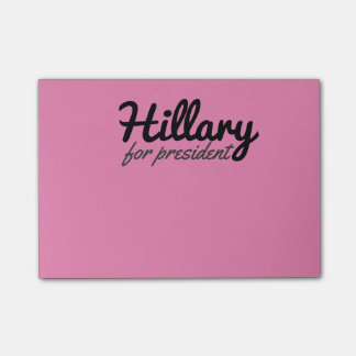 Pink Girly Hillary for President Post-it® Notes