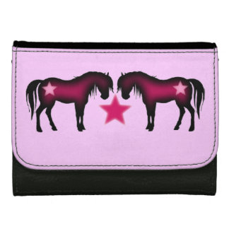 Pink Girly Horses Wallet
