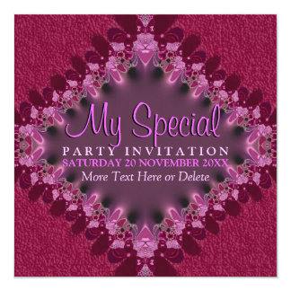 Pink Girly Lace Special Event Party Invitation