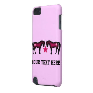 Pink Girly Personalized Horse iPod Touch 5G Covers